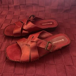 Naturalizer Suede and Leather Comfort Sandals
